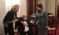 President Armen Sarkissian and Mrs. Nouneh Sarkissian conveyed condolences on the demise of the famous composer Krzysztof Penderecki: He was a symbol of friendship of the Armenian and Polish peoples