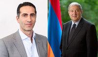 Последовательно продолжать работу – Президент Саркисян побеседовал с исполнительным директором Фонда науки и технологий Армении