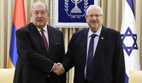 President Armen Sarkissian congratulated President of Israel on the occasion of National holiday: I view as important a continuous cooperation between Armenia and Israel