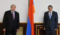 President Armen Sarkissian spoke on the phone with the President of Artsakh Araik Harutyunian: we need to work together for Artsakh's prosperity