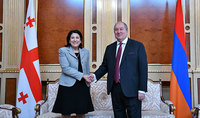 President Armen Sarkissian sent a congratulatory message to Salome Zurabishvili: I am confident that through the joint efforts we will defeat this calamity too
