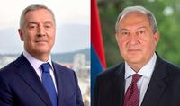 Президент Саркисян провёл телефонный разговор с Президентом Черногории Мило Джукановичем