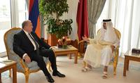 President Armen Sarkissian sent a congratulatory message to the Emir of Qatar on his birth anniversary