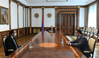 Президент Республики готов и впредь содействовать налаживанию связей с различными странами и организациями в деле преодоления последствий пандемии. Президент Саркисян встретился с Министром здравоохранения
