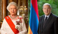 Президент Саркисян направил поздравительное послание Королеве Елизавете II по случаю национального праздника – Дня рождения Королевы