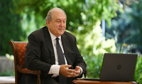 "President Armen Sarkissian through a video call participated at the Horasis prestigious international conference: coronavirus is bellowing, ""Wake up, the world has changed"""