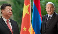 """President of China Xi Jinping congratulated President Armen Sarkissian on the occasion of his birth anniversary: """"I am ready together with you to make joint efforts so that our bilateral ties yield great results"""""""