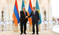Համոզված եմ, որ մեր համատեղ ջանքերի շնորհիվ հայ-ղազախական հարաբերությունները հետագայում ևս կամրապնդվեն. նախագահ Արմեն Սարգսյանին ծննդյան օրվա առթիվ շնորհավորել է Ղազախստանի նախագահը