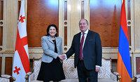 Наша дружба и сотрудничество остаются неприкосновенными – Президент Грузии Саломе Зурабишвили поздравила Президента Армена Саркисяна с Днём рождения