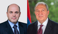 "Prime Minister of RF Mishustin congratulated President Sarkissian of his birth anniversary: ""I would like to stress in particular your considerable contribution to the strengthening of the friendly, allied partnership linking Russia and Armenia"""