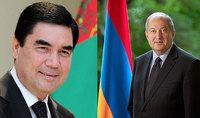 President of Turkmenistan Gurbanguli Berdimuhamedov congratulated President Sarkissian on the occasion of his birthday