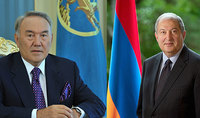 Nursultan Nazarbaev congratulated President Armen Sarkissian: In your person Armenia has a leader and a patriot who is employing all his abilities for the wellbeing of the country and people