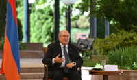 "President Sarkissian participated at the ""COVID-19: The success and pathways for global cooperation"" online webinar: ""We have to fight coronavirus today, at the same time looking into economic problems coming tomorrow"""