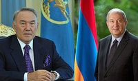 Հանրապետության նախագահ Արմեն Սարգսյանը ծննդյան 80-ամյակի առթիվ շնորհավորել է Ղազախստանի առաջին նախագահ Նուրսուլթան Նազարբաևին