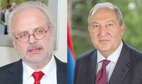 Две страны обладают серьёзным потенциалом сотрудничества. Президент Армен Саркисян провёл телефонный разговор с Президентом Латвии