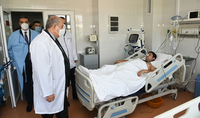 President Armen Sarkissian visited the Central Clinical Military Hospital of the MoD: true and real creators of history are our military servicemen