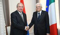 Նախագահ Արմեն Սարգսյանը հեռախոսազրույց է ունեցել Իտալիայի նախագահ Սերջիո Մատարելլայի հետ