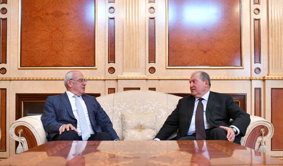 President Armen Sarkissian discussed the situation in Beirut and problems of the Armenian community of Lebanon with the President of AGBU Berge Setrakian