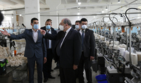 President Sarkissian visited Berd workshop of Tavush Textile company