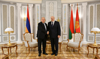 President Armen Sarkissian congratulated Alexander Lukashenko on his re-election as President of Belarus