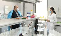 President Armen Sarkissian visited Armenia Wine factory