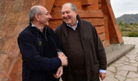 President Armen Sarkissian congratulated Bako Sahakian on the occasion of his 60th birth anniversary