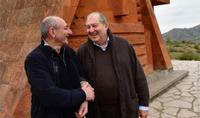 President Armen Sarkissian congratulated Bako Sahakian on the occasion of his 60th birth anniversary