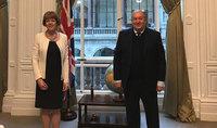 Նախագահ Արմեն Սարգսյանը հանդիպել է ՄԹ Եվրոպական հարևանության և Ամերիկայի հարցերով նախարար Ուենդի Մորթնի հետ