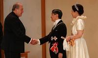 Անկախության տոնի առթիվ նախագահ Արմեն Սարգսյանին շնորհավորել է   Ճապոնիայի կայսր Նարուհիթոն