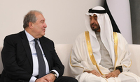 On the occasion of Armenia's Independence Day President Armen Sarkissian received congratulations from the Crown Prince of the Emirate of Abu Dhabi Sheikh Mohammed bin Zayed bin Sultan Al Nahyan