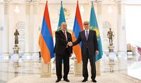 Президенту Армену Саркисяну поздравительное послание направил Президент Казахстана Касым-Жомарт Токаев