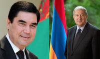 Անկախության տոնի առթիվ նախագահ Արմեն Սարգսյանին շնորհավորել է Թուրքմենստանի նախագահը
