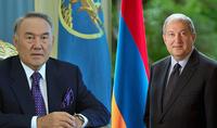Президента Саркисяна поздравил Первый Президент Казахстана Нурсултан Назарбаев