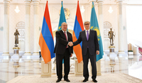 On the occasion of Independence Day President Armen Sarkissian received congratulations from the President of Kazakhstan
