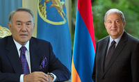On the occasion of Independence Day President Armen Sarkissian received congratulations from the first president of Kazakhstan