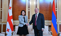 On the occasion of Independence Day President Armen Sarkissian received congratulations from the President of Georgia