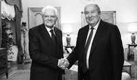 """""""Relations between Yerevan and Rome are ancient and deep but, at the same time, they are aimed into the future"""": President of Italy congratulated Armen Sarkissian on the occasion of Independence Day"""