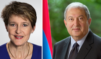 On the occasion of Independence Day President Armen Sarkissian received congratulations from the President of Switzerland