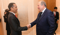 On the occasion of Independence Day President Armen Sarkissian received congratulations from the President of Indonesia