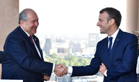 Emmanuel Macron congratulated President Armen Sarkissian: France and Armenia can be proud of full-fledged relations based on historical ties, collective memory, and common vision