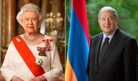 Անկախության տոնի առթիվ նախագահ Արմեն Սարգսյանին շնորհավորական ուղերձ է հղել Թագուհի Եղիսաբեթ Երկրորդը