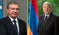 On the occasion of Independence Day President Armen Sarkissian received congratulations from the President of Uzbekistan