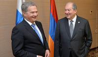 Президента Армена Саркисяна по случаю Дня Независимости поздравил Президент Финляндии