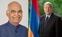 President of India congratulated President Armen Sarkissian on the occasion of Independence Day: India and Armenia are united by warm and friendly relations