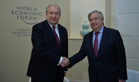 António Guterres congratulated President Armen Sarkissian: your country's engagement in the international agenda in the framework of UN activities is extremely important