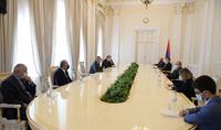 Президент Армен Саркисян принял делегацию Национального Собрания Республики Арцах