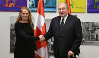 On the occasion of Independence Day President Armen Sarkissian received congratulations from the Governor General of Canada