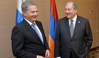 President Armen Sarkissian received congratulations from the President of Finland on the occasion of Independence Day