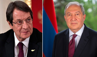 President Sarkissian sent a letter to the President of Cyprus: I have no doubt that at this difficult for Armenia and Artsakh moment the brotherly Cyprus is with us