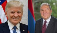 Президент Армен Саркисян пожелал скорейшего выздоровления Президенту США Дональду Трампу и Первой леди Мелании Трамп